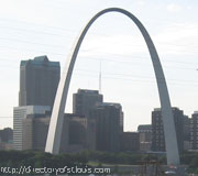 View of St Louis from the Popular bridge.